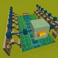 自动水稻收割机