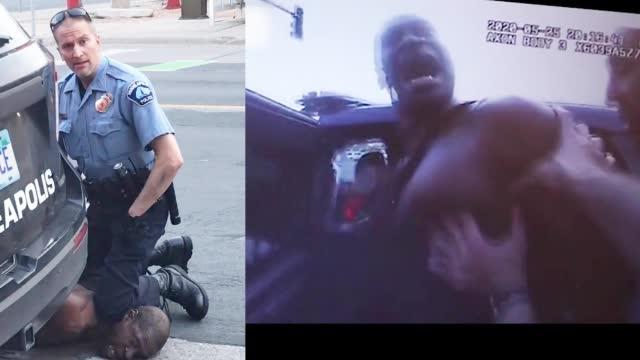 黑人之死执法记录仪画面曝光 遭跪压数次求饶大喊妈妈