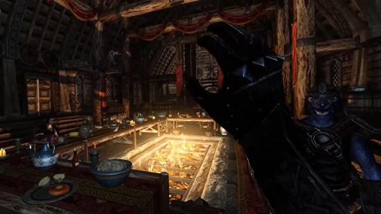《上古卷轴5》VR版重力手套MOD 增强游戏互动手感