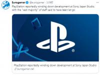 曝PlayStation正关闭索尼日本工作室 知名日本游戏制作人离职