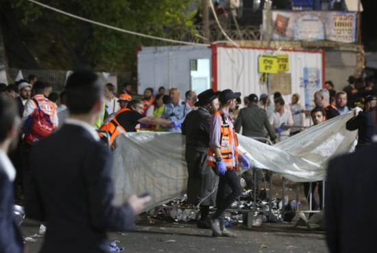 以色列发生踩踏事件已致38死 以色列踩踏事件现场视频画面曝光