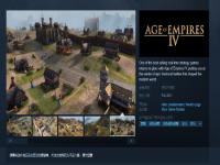 《帝国时代4》上架Steam 今秋发售、支持中文