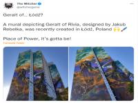 全世界最大的《巫师》壁画竣工 登高的杰洛特背影好帅