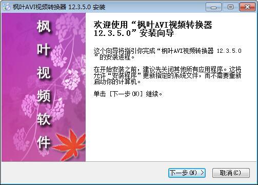 枫叶AVI视频转换器下载
