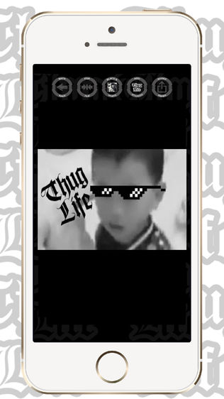 Thug Life 照片 编辑 贴纸 制作者软件截图2