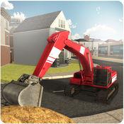沙挖掘机起重机模拟器