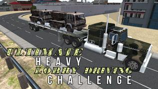 3D陆军货运卡车模拟器软件截图0