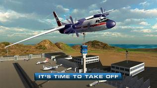 飞机飞行员飞行模拟器的3D