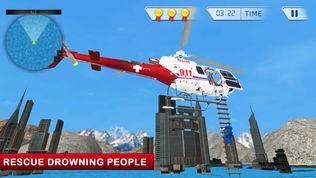911救护车救护车救援直升机模拟器3D游戏软件截图0