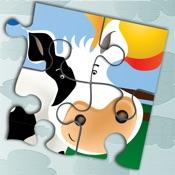 农场动物拼图游戏