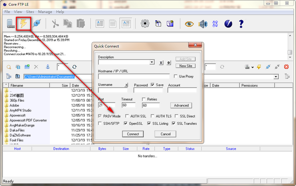 Core FTP LE(FTP工具)下载