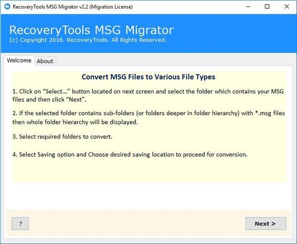 RecoveryTools MSG Migrator(MSG文件转换器)下载