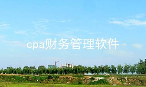 cpa财务管理软件