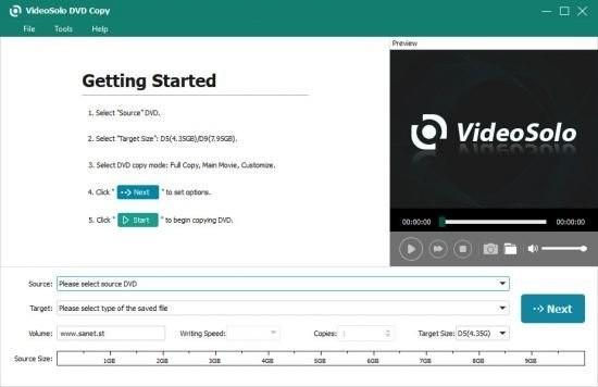 VideoSolo DVD Copy(DVD视频翻录助手)下载