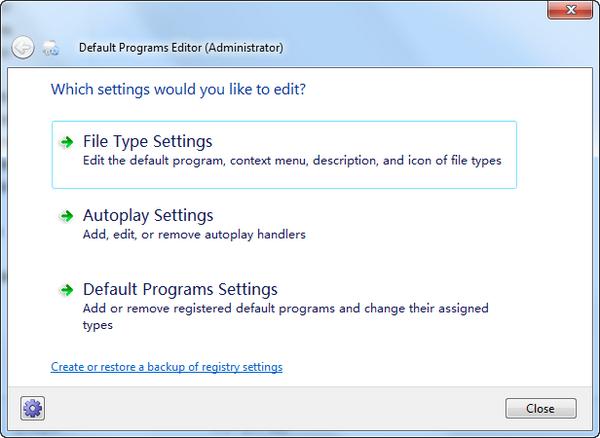 Default Programs Editor下载