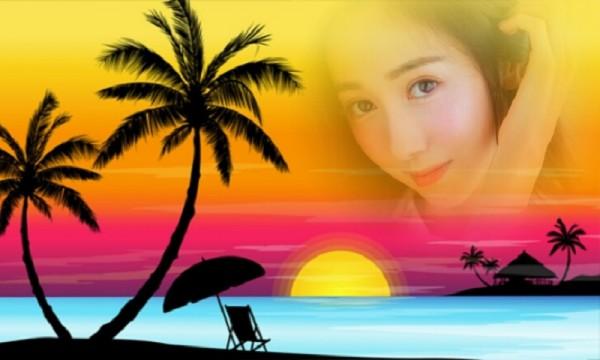 浪漫沙滩相框软件截图0