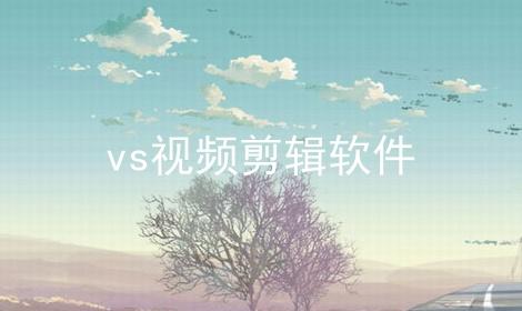 vs视频剪辑软件