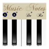 钢琴与笔记