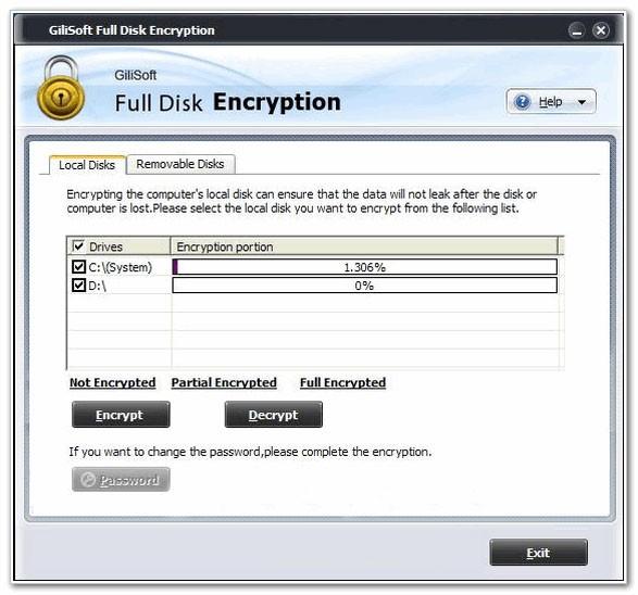 Gilisoft Full Disk Encryption(磁盘加密软件)下载