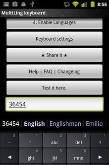 MultiLing Keyboard软件截图1