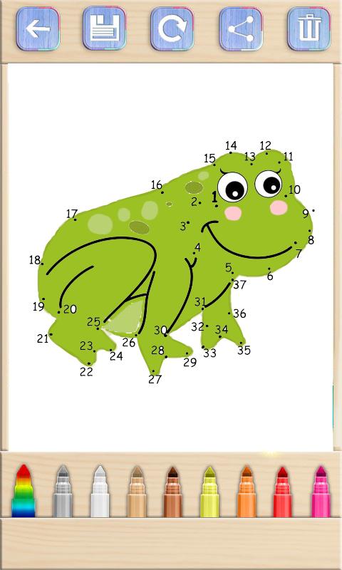 动物连线儿童画画游戏软件截图2