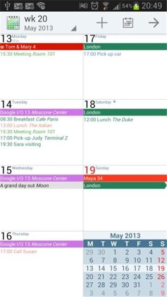 安卓日历aCalendar+软件截图1