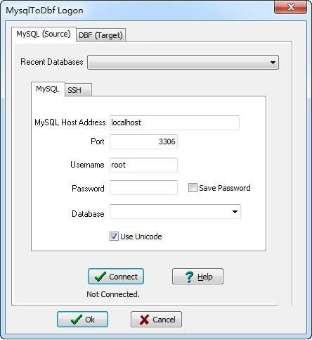 MysqlToDbf(数据转换工具)