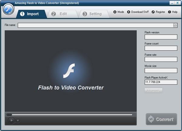 Amazing Flash to Video Converter(flash转视频软件)