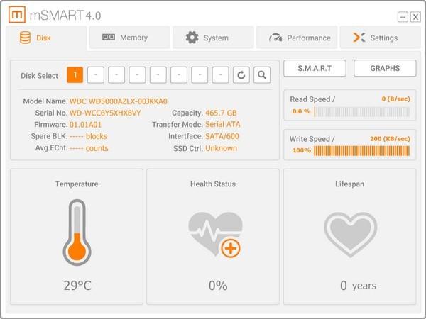 mSMART(硬盘监控软件)