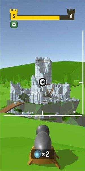 大炮射击摧毁城堡软件截图2