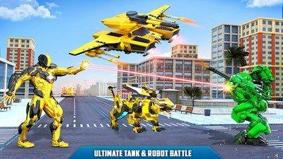 飞行坦克变形机器人