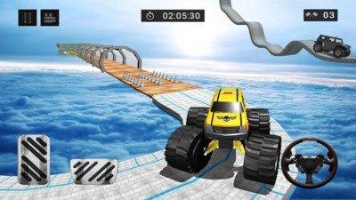4X4怪物卡车爬山软件截图0