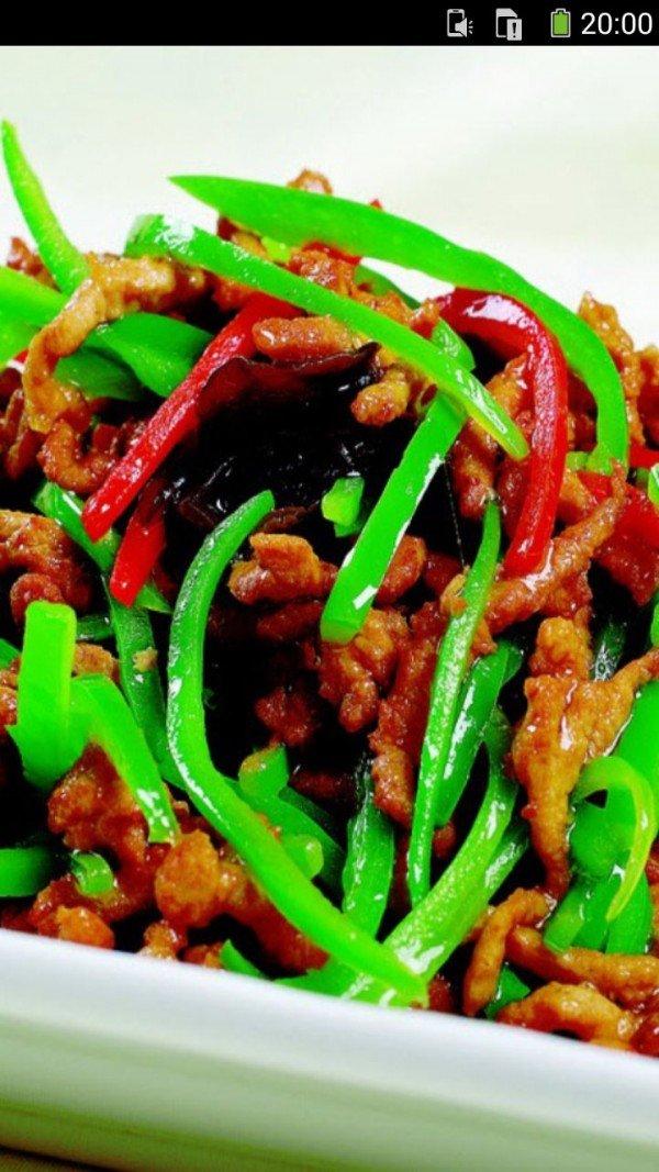 青椒炒肉丝的做法图文