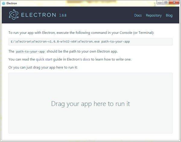 electron(跨平台桌面应用开发工具)下载