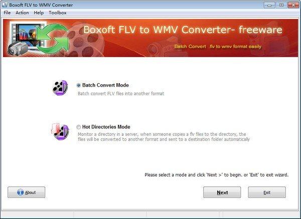 Boxoft Free FLV to WMV Converter(FLV到WMV转换器)下载
