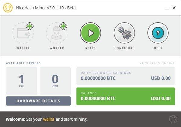 NiceHash Miner(比特币挖矿软件)