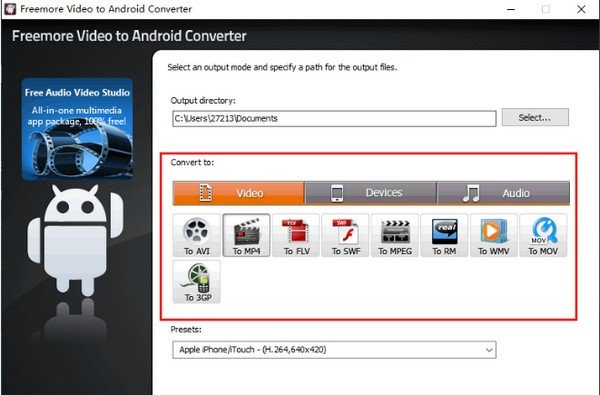 Freemore Video to Android Converter(视频格式转换工具)