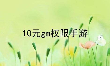 10元gm权限手游