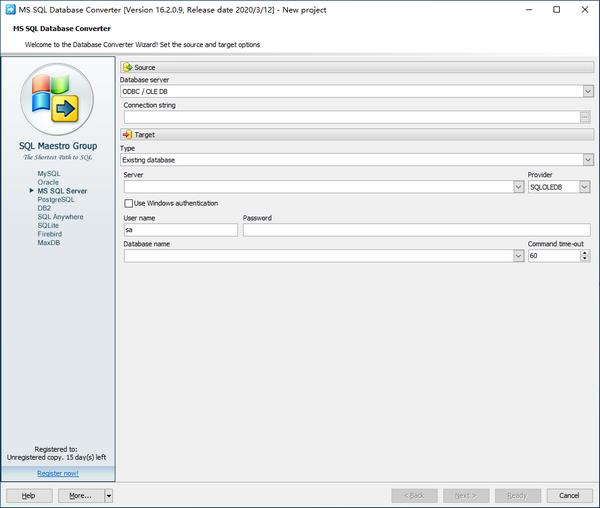 MS SQL Database Converter(数据库转换工具)