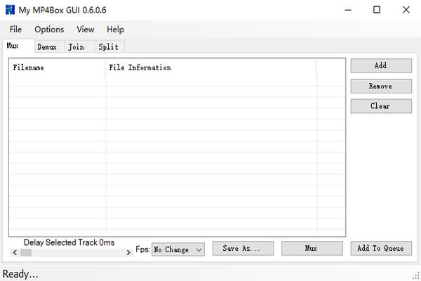 My MP4Box GUI(图形化工具)