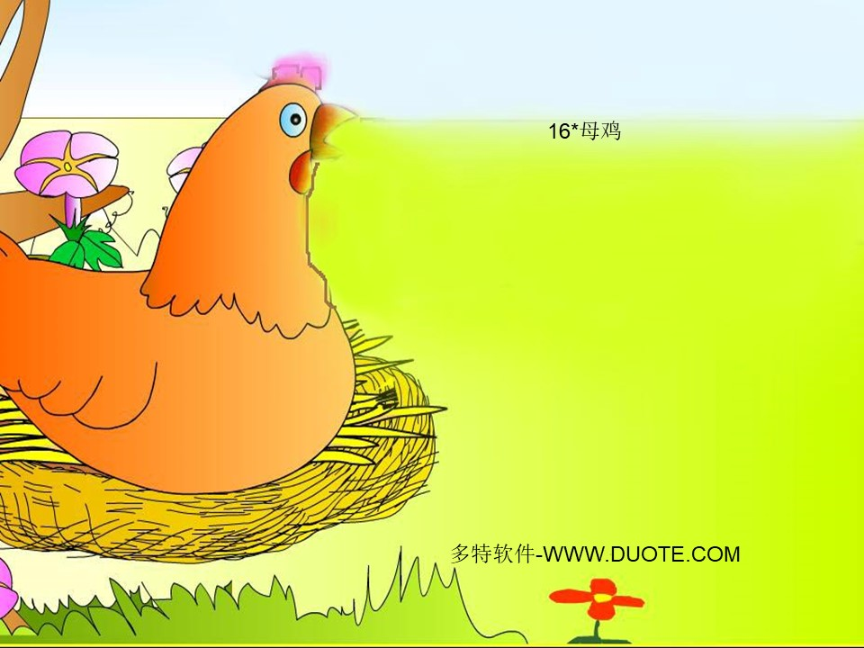 《母鸡》PPT课件9下载