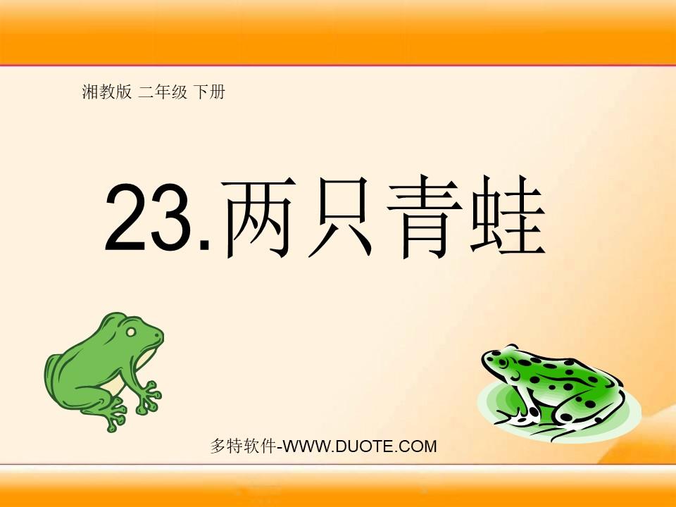 《两只青蛙》PPT课件4下载