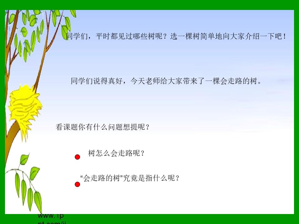 《会走路的树》PPT课件下载