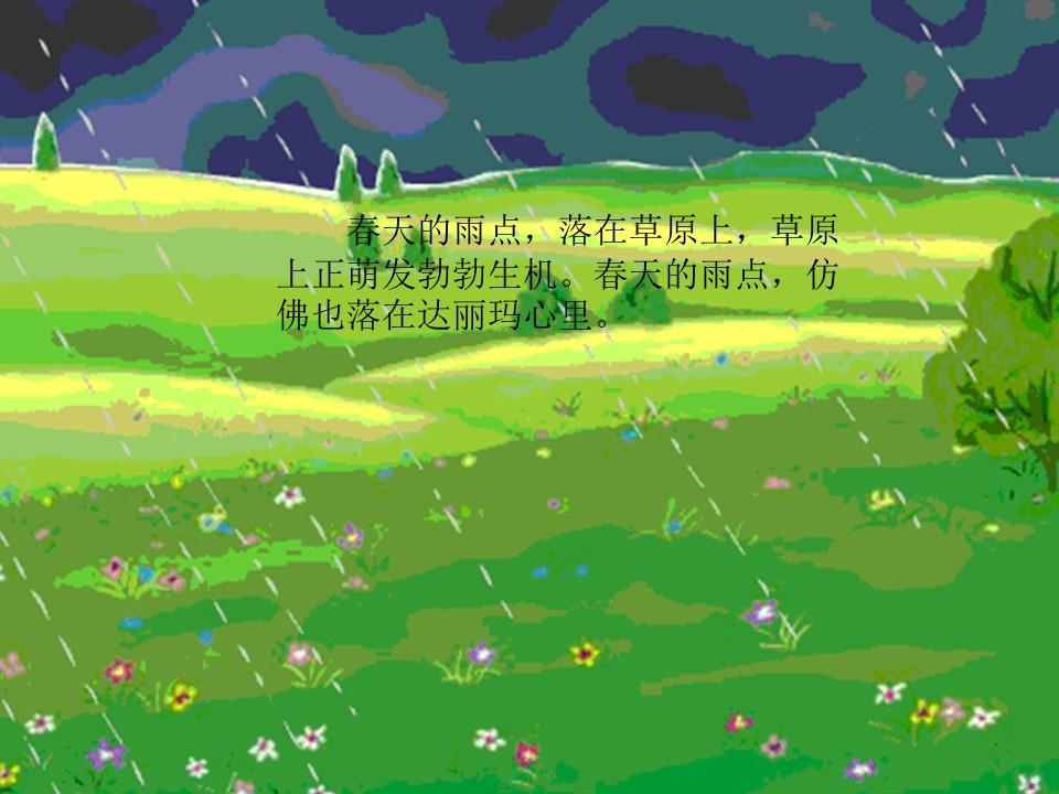 《春天的雨点》PPT课件2下载