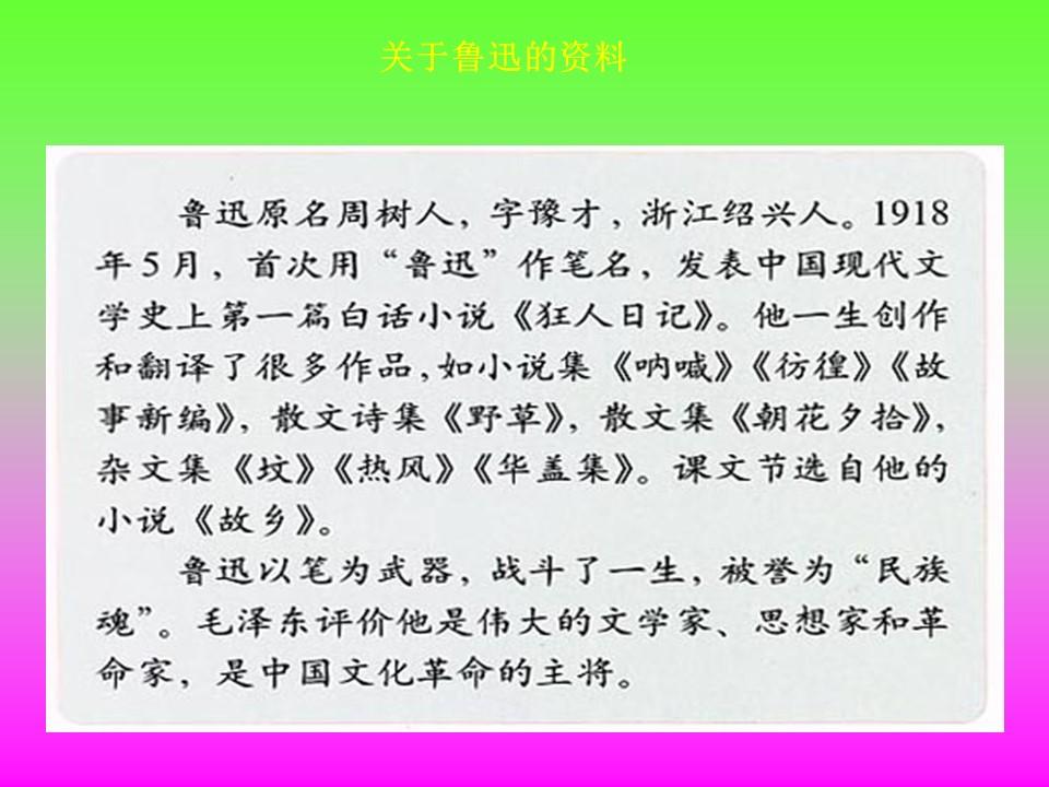 《少年闰土》PPT课件2下载