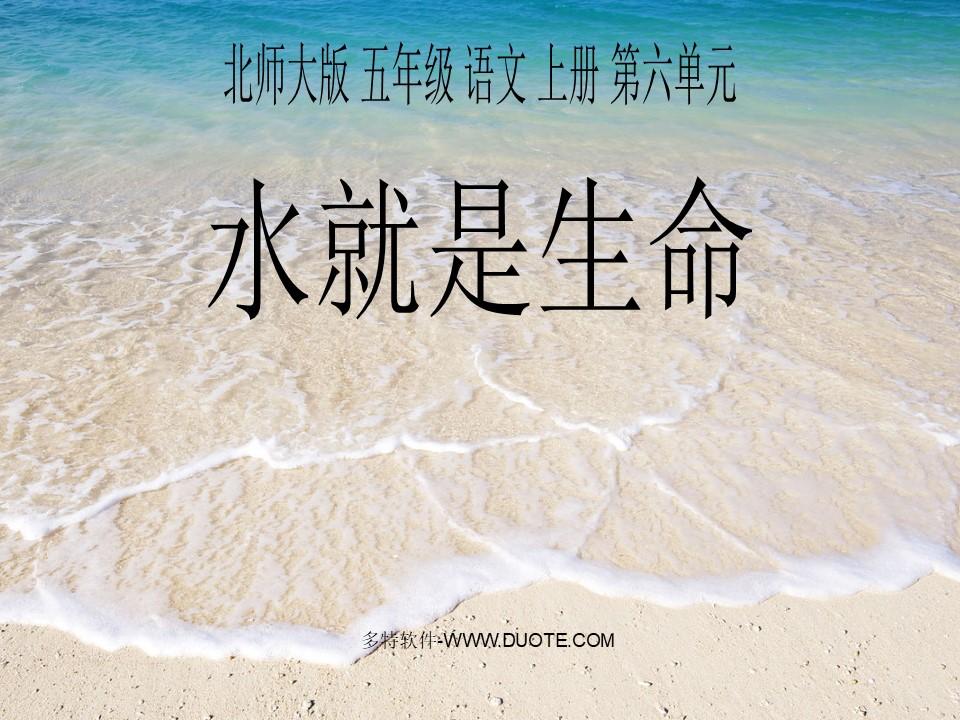 《水就是生命》PPT课件2下载