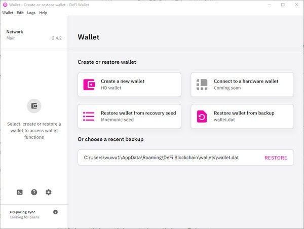 DeFi Wallet(虚拟金融钱包)