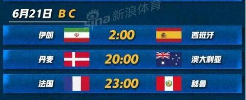 2018年6月21日世界杯是谁vs谁?附北京时间比赛赛程及直播地址