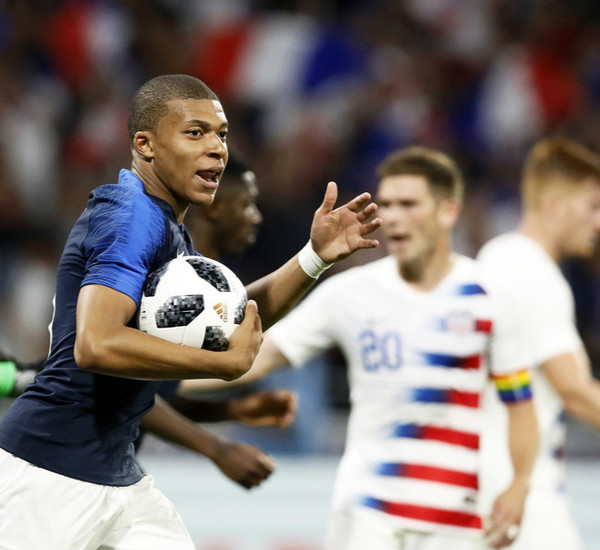 热身赛-法国1:1美国