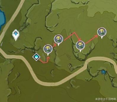 原神蒙德地区甜甜花采集位置及路线图